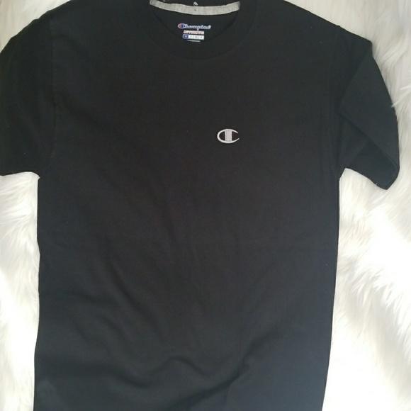 9608395db Champion Shirts | Black Crew T Shirt | Poshmark